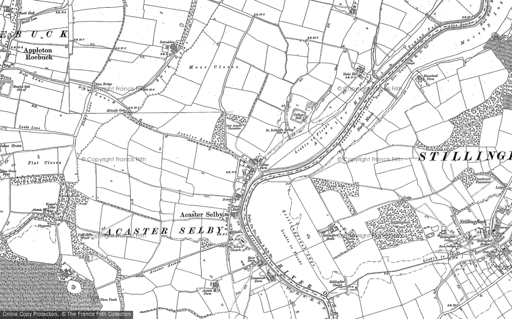 Old Map of Acaster Selby, 1890 - 1891 in 1890