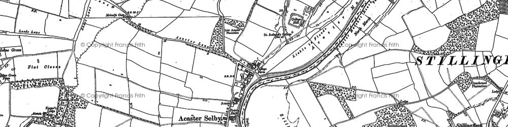 Old map of Acaster Selby in 1890