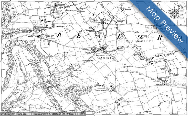 Old Map of Historic Map covering Allt an Torr Fhearna in 1885