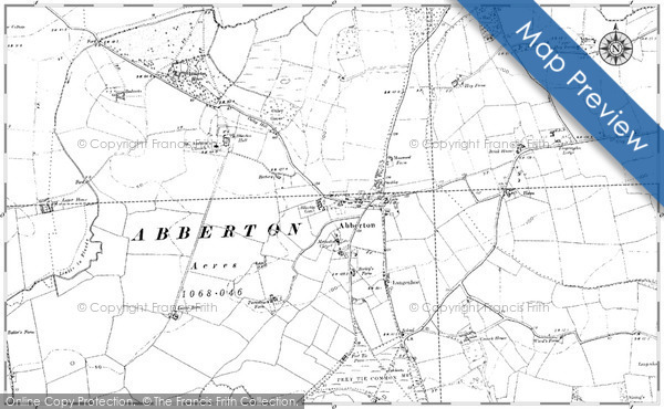 Old Map of Historic Map covering Badentarbat in 1895