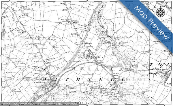 Old Map of Historic Map covering Achnaba in 1891