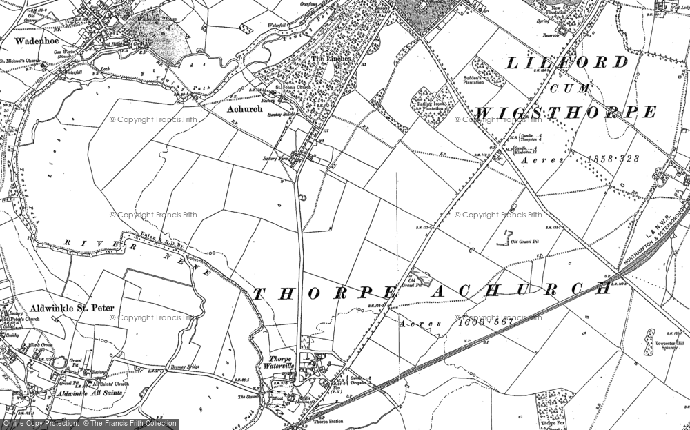 Old Map of Achurch, 1903 in 1903