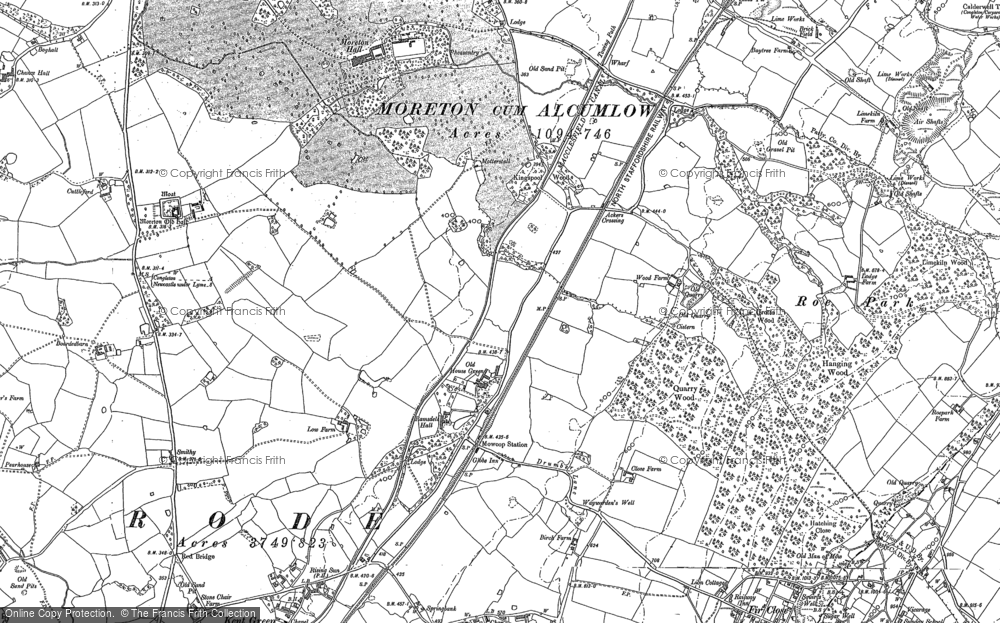 Old Map of Ackers Crossing, 1897 - 1908 in 1897