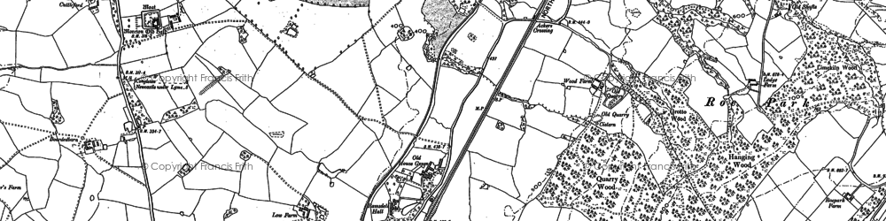 Old map of Ackers Crossing in 1897