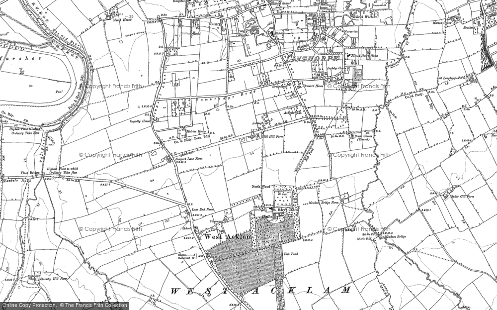 Old Map of Acklam, 1894 - 1895 in 1894