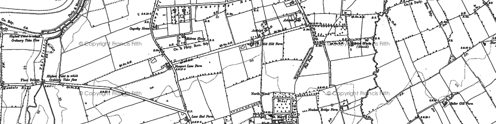 Old map of Acklam in 1894
