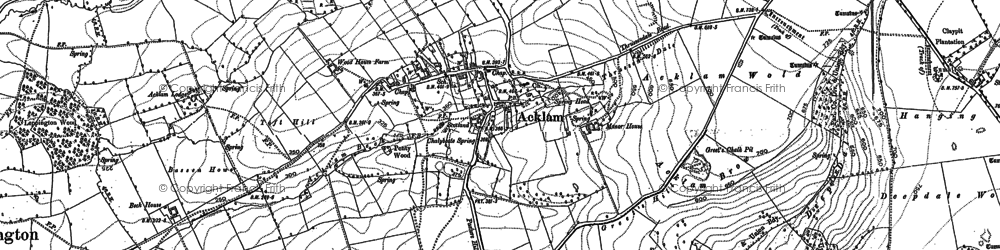 Old map of Back Warren Plantn in 1900