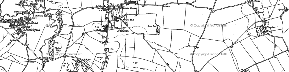 Old map of Ackleton in 1894