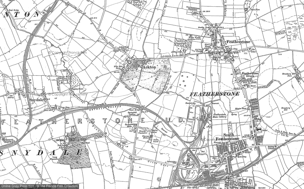 Old Map of Ackton, 1895 in 1895