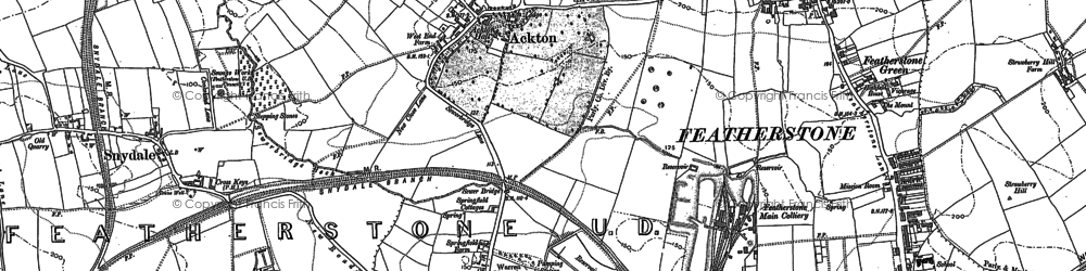 Old map of Ackton in 1895