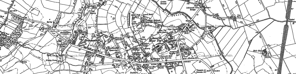 Old map of Ackworth Moor Top in 1860