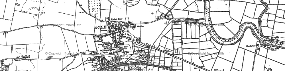 Old map of Acle in 1884