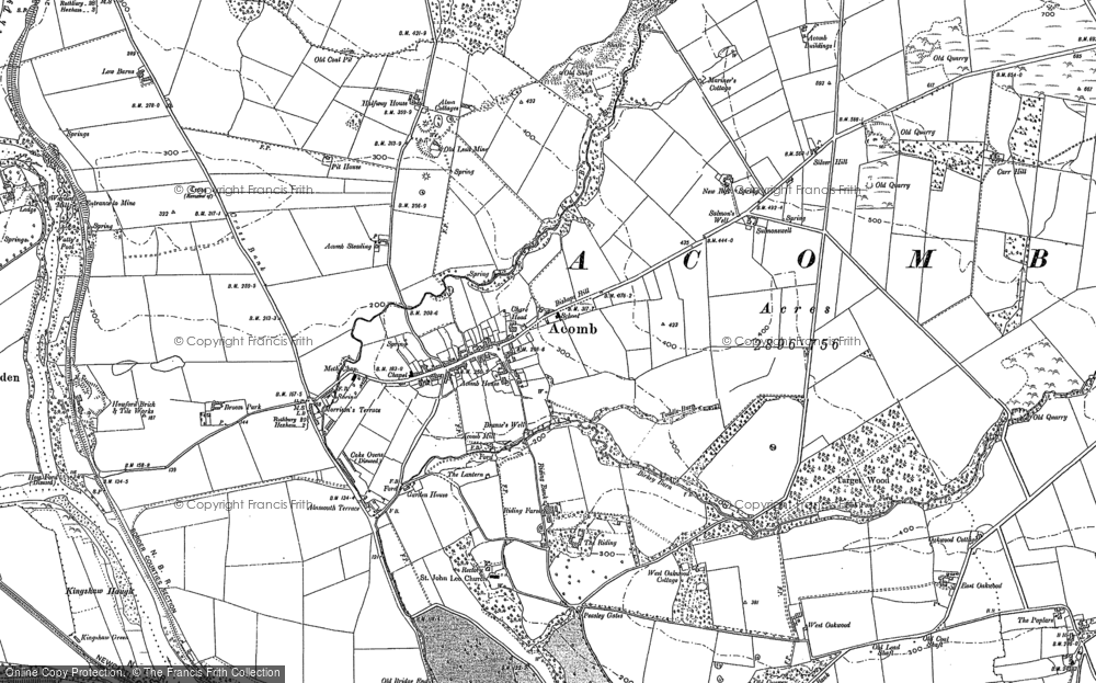 Old Map of Acomb, 1895 in 1895