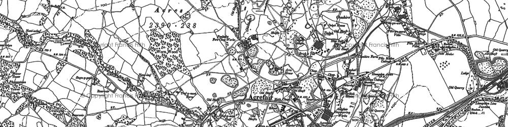Old map of Acrefair in 1910