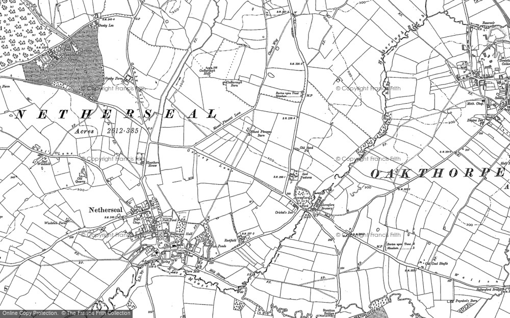 Old Map of Acresford, 1882 - 1900 in 1882