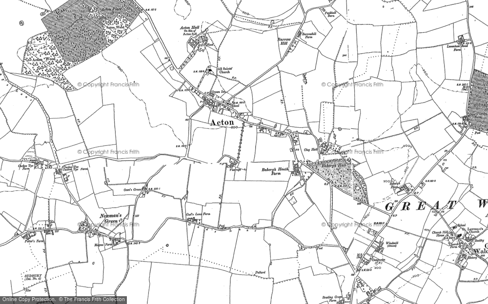 Old Map of Acton, 1885 - 1902 in 1885