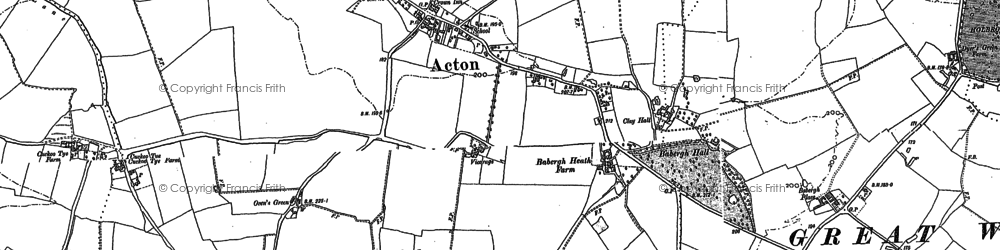 Old map of Acton in 1885