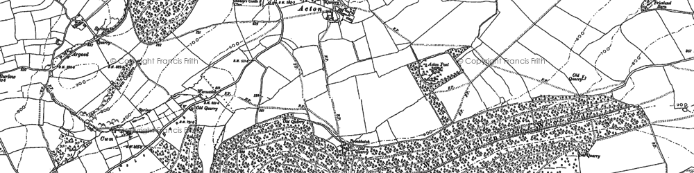 Old map of Acton in 1886