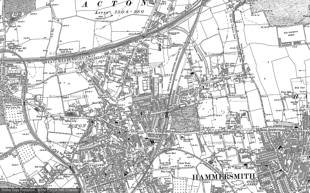 Map of Acton, 1894