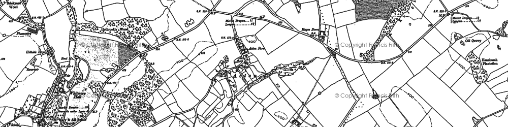 Old map of Acton in 1903