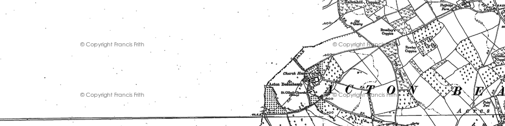 Old map of Acton Beauchamp in 1906
