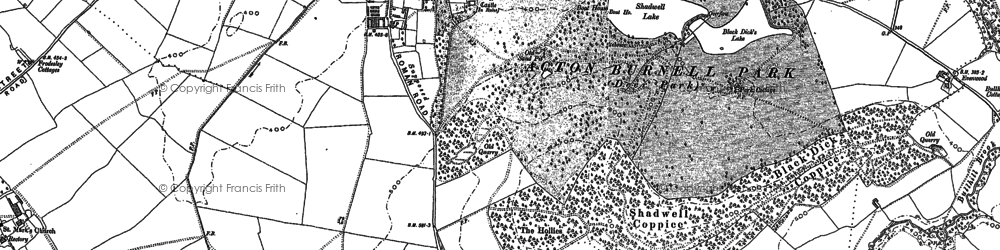 Old map of Acton Burnell in 1882