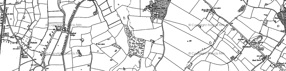 Old map of Larchery, The in 1881