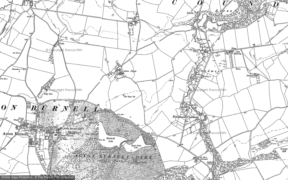 Old Map of Acton Pigott, 1903 in 1903