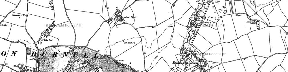 Old map of Acton Pigott in 1903