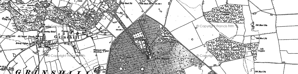 Old map of Acton Reynald in 1903