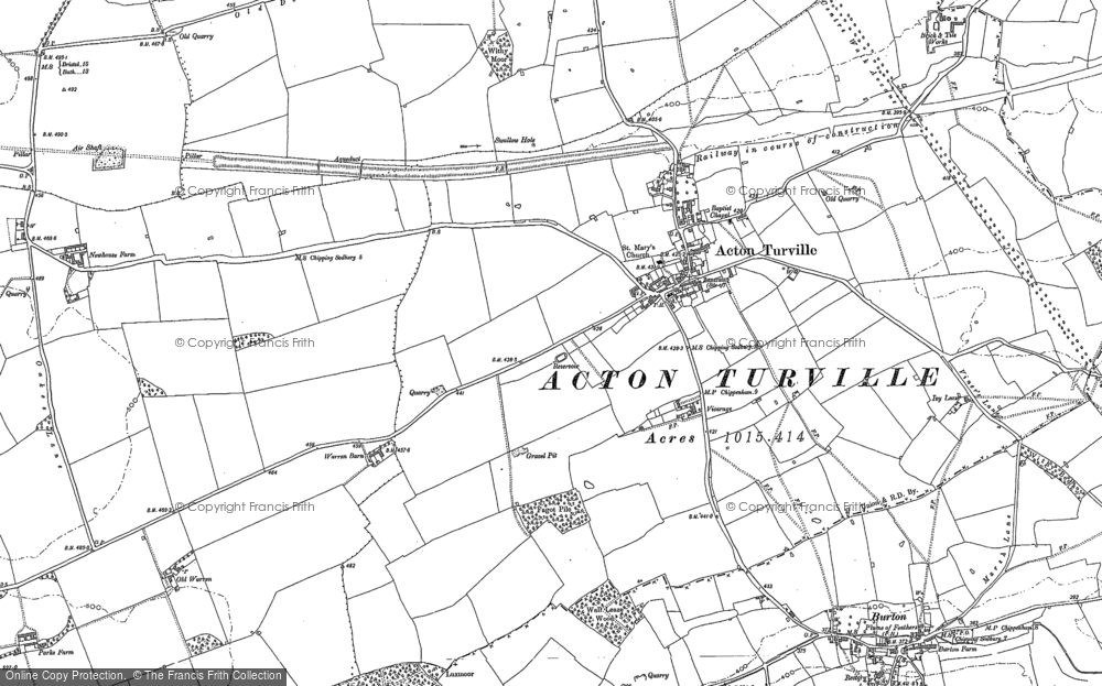 Old Map of Acton Turville, 1919 in 1919