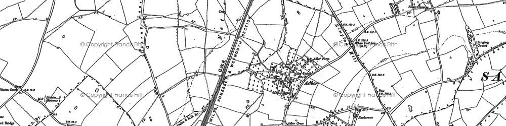Old map of White Post in 1890