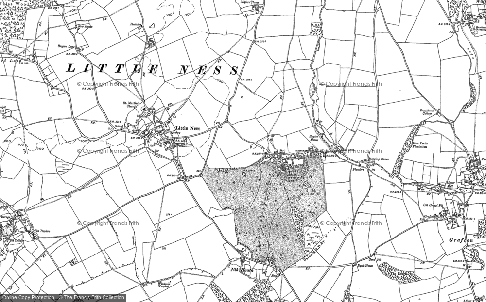 Old Map of Adcote, 1886 in 1886