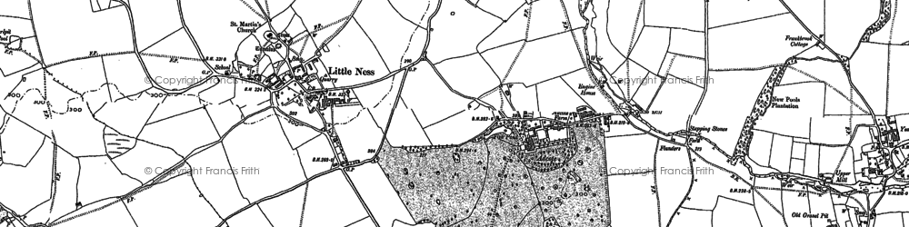 Old map of Adcote in 1886