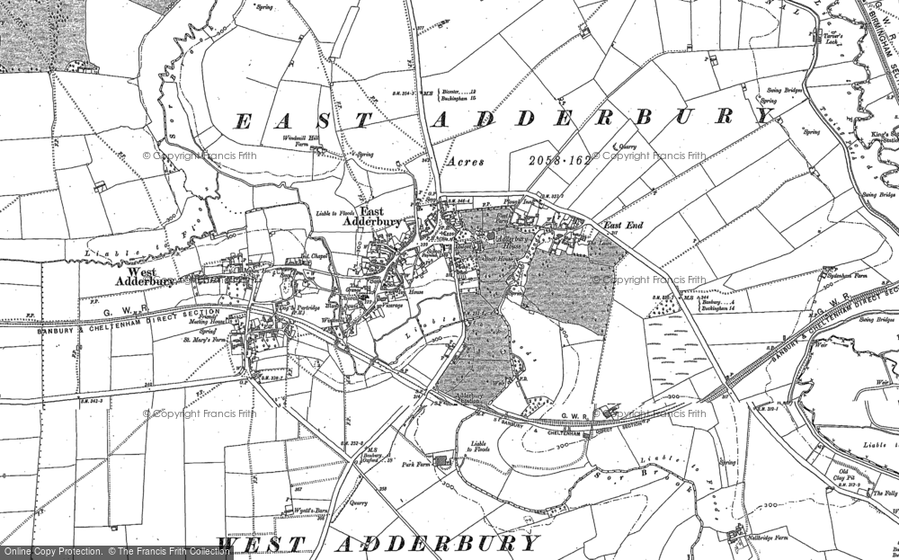 Old Map of Adderbury, 1898 in 1898
