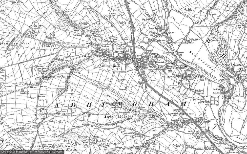 Old Map of Addingham, 1907 in 1907
