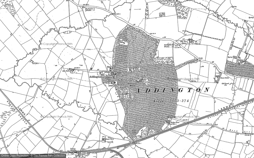Old Map of Addington, 1898 in 1898