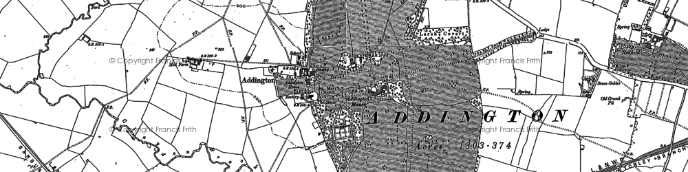 Old map of Addington Manor in 1898