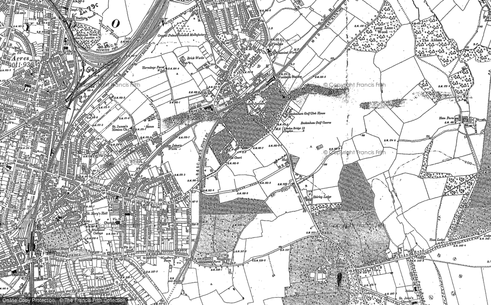 Old Map of Addiscombe, 1895 in 1895