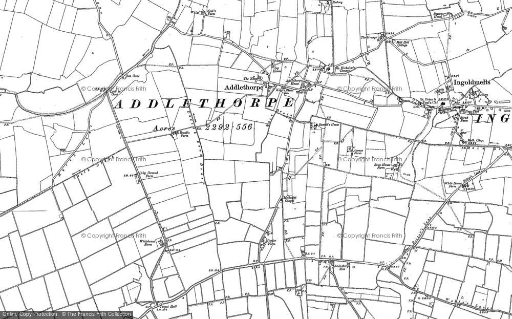 Old Map of Addlethorpe, 1904 - 1905 in 1904