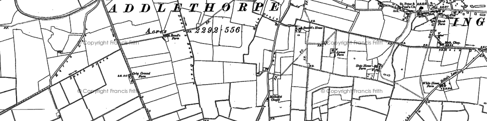 Old map of Addlethorpe in 1904