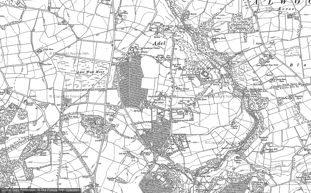 Old Map of Adel, 1847 - 1891 in 1847