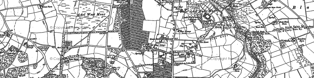 Old map of Adel in 1847