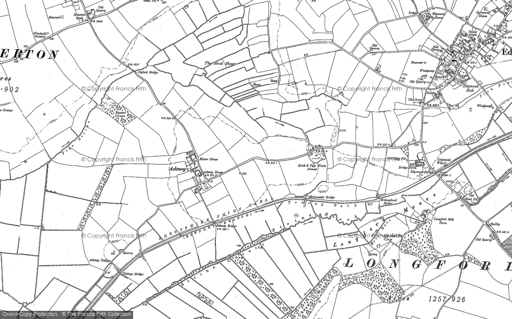 Old Map of Adeney, 1880 - 1881 in 1880