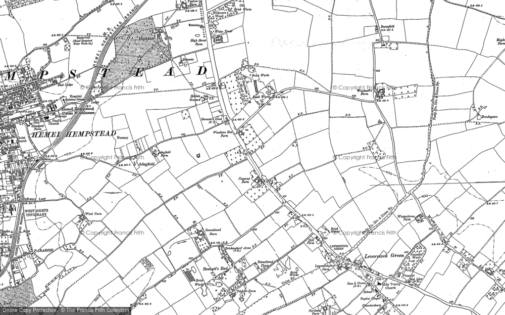 Old Map of Adeyfield, 1897 in 1897