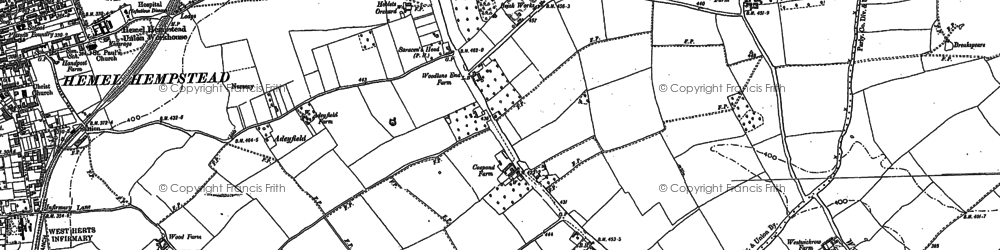 Old map of Adeyfield in 1897