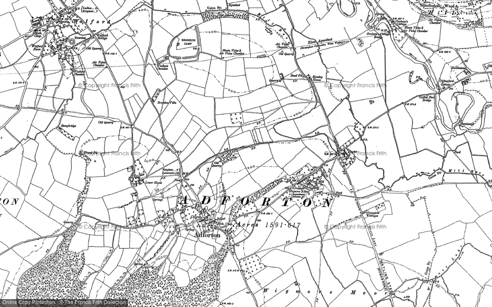 Old Map of Historic Map covering Leintwardine Fishery in 1884