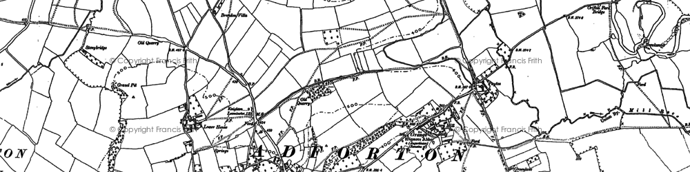Old map of Wigmore Moor in 1884