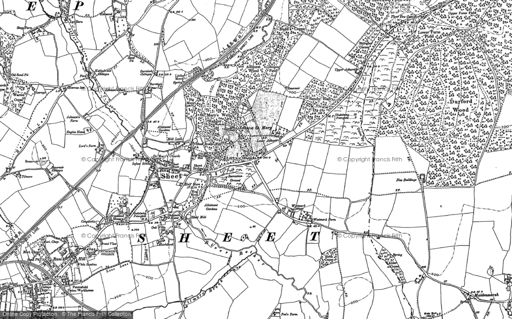 Old Map of Adhurst St Mary, 1895 - 1908 in 1895
