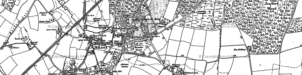 Old map of Adhurst St Mary in 1895